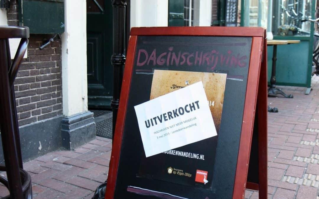 Perfecte sfeer bij Bokkenwandeling Leiden 2014