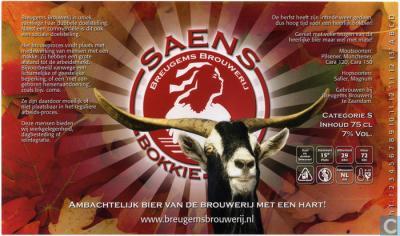 Saens Bokkie van Brouwerij Breugem in Zaanstad